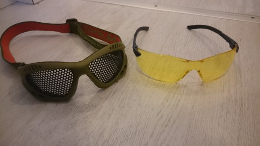 Airsoft eye protection